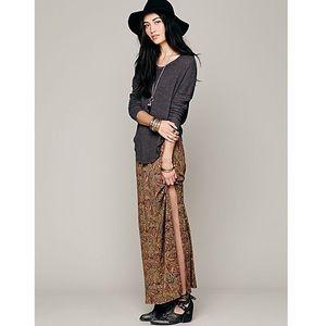 Free People Sahaying Print Maxi Skirt Size M